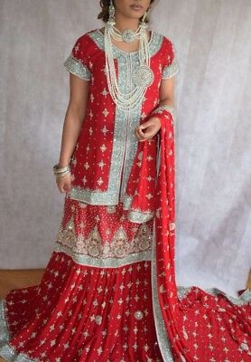 Bridal Dress/Lengha Wedding/Walima Asain/Pakistani/Indian/Bollywood/Lengha