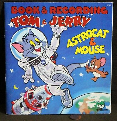 c1984 Peter Pan Book & Recording, TOM & JERRY - ASTROCAT & MOUSE, 45rpm Record