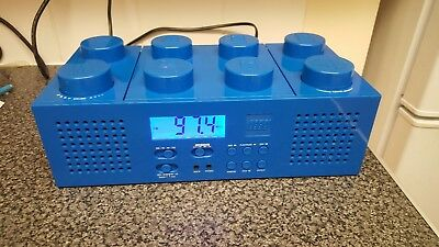 lego blue block cd player. radio. aux. boom box good condition