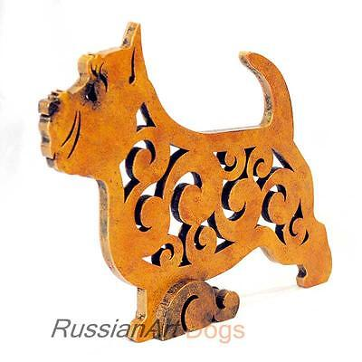 Norwich Terrier figurine, statue made of wood