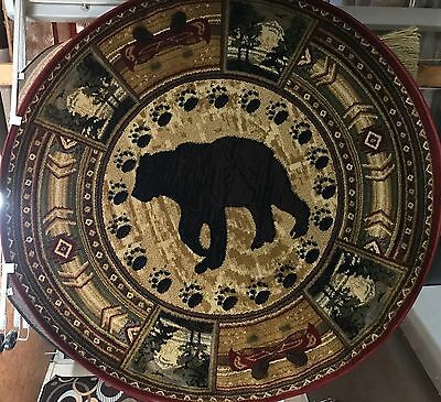 Bear Lodge ROUND 5x5 area rug for the home Nature Whittney Collection