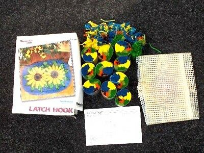 Sunflowers Latch Hook Rug Kit By Caron 20 X 27""