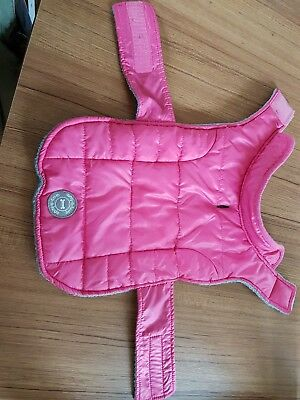Wag-a-tude pink dogs coat size small