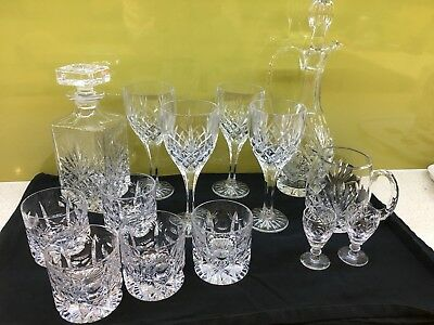 Various Lead Crystal Glasses And Decanters