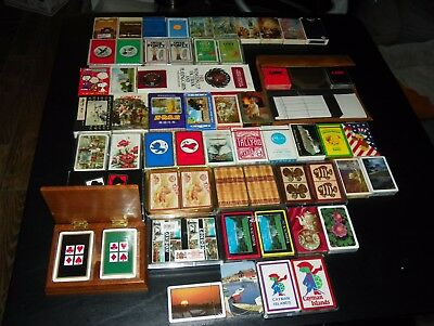 Sealed Unsealed Used Unused HUGE Lot of 59 Decks of Playing Cards