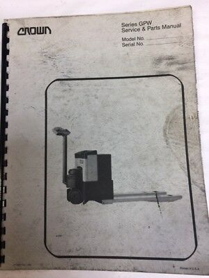 crown pallet jack repair manual
