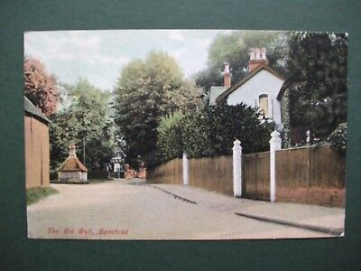 The Old Well, Banstead, Surrey. Postcard.