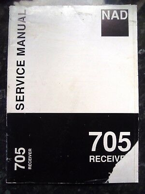 NAD SERVICE MANUAL for 705 Receiver