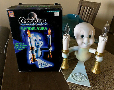 CASPER the Friendly GHOST Vintage Halloween Light Up Candelabras Figure Display