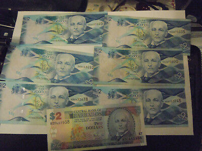 2 dollar central of barbados 10 pcs not unc nearby unc from 2013