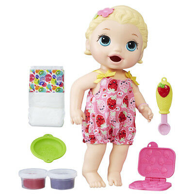 Baby Alive Snackin' Lily Doll - Pink Dress