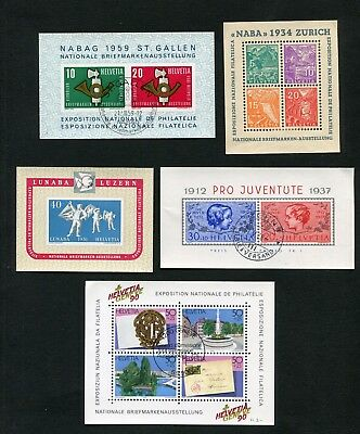 SWITZERLAND - Small collection, MH/Cancelled
