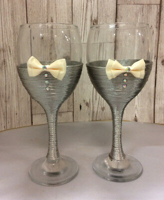 Mr & Mr  groom  gay wedding wine glass wedding toast  grey ivory