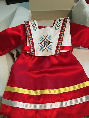 American Girl NIB Kaya's Limited Ed 2015 Red Fancy Shawl Dress Complete RETIRED