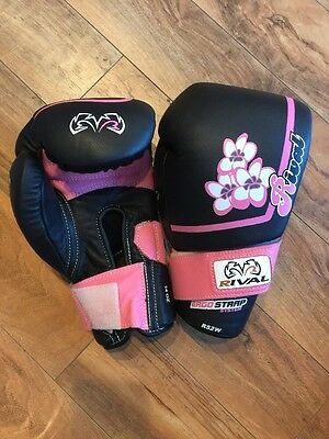 New Rival Ladies Pro Boxing Sparring Gloves RS2V-W Black Pink 14oz