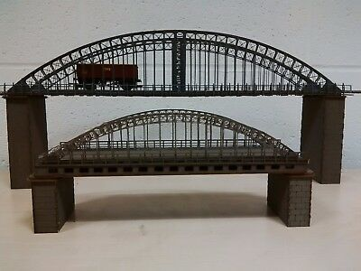 NEW Modelux Large Arch Suspension Bridge Complete with piers Grey Flat pack kit