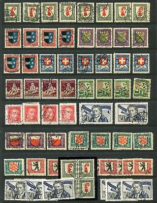 SWITZERLAND - Small collection,  Cancelled