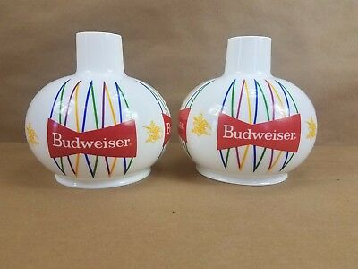 Vintage 1960's Glass Budweiser Globes Bow Tie Logo Great Condition FREE SHIPPING