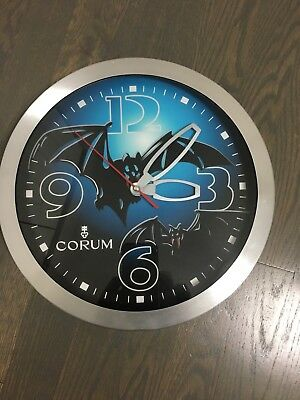 Corum Bubble Bat Bats Dealers Showroom Advertising Wall Clock - Display