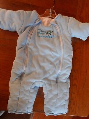 Baby Merlin's Magic Sleepsuit Small BLUE 3-6m preowned sleep sack pajamas