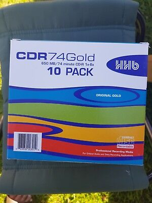 HHB CDR 74 Gold 650mb/74 minute 10 pack