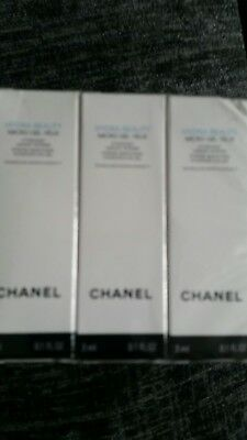 4 x Chanel Hydra Beauty Micro Gel Intense Smoothing Hydration Eye Gel 3ml (12ml)