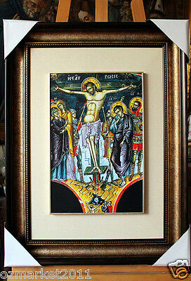 Catholic Church Portrait Jesus Cross Christian Blessed Cloth Delicate Frame B