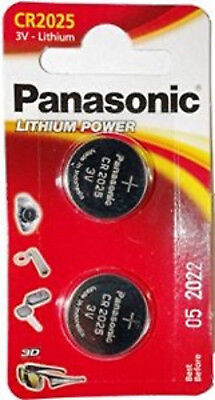 50New 2 x Panasonic CR2025 3V Lithium Coin Cell Battery 2025