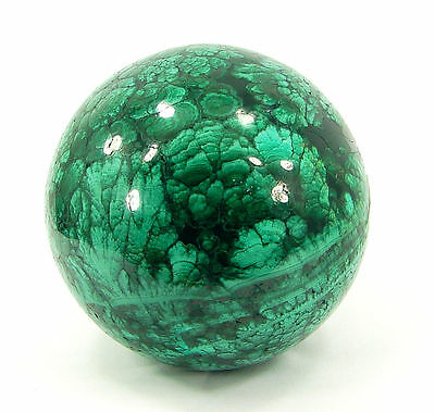 1729.00 Ct Natural Green Malachite Gemstone Sphere Ball Healing Crystal - 10254