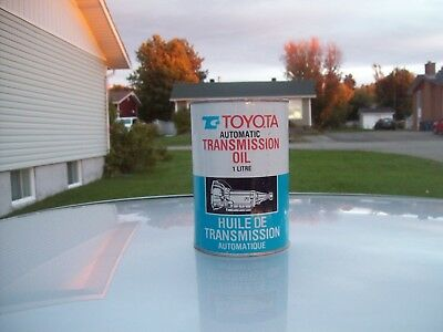 Vintage 1970's Toyota Automatic Transmission Oil 1 Litre  Tin Can Full