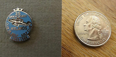 Hylands Golf Club 25th Anniversary Lapel Pin - Military Golf Course