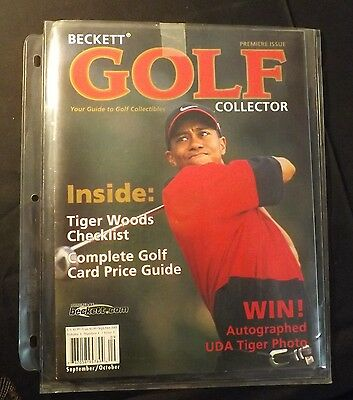 Beckett Golf - Premiere Issue Tiger Woods on Cover