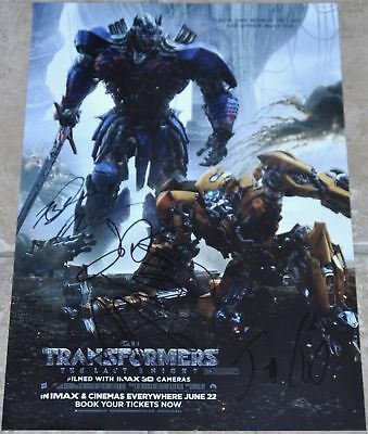 Transformers The Last Knight Multi Signed A4 Poster Cast #2