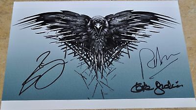 "Game Of Thrones Signed 12"" x 8"" Photo Sean Bean , Kate Dickie & Ralph Ineson"