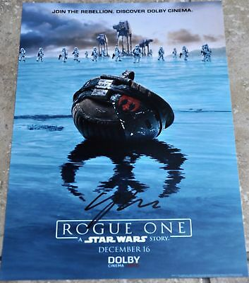 """Gareth Edwards Signed 12"""" x 8"""" Colour Photo Star Wars Rogue One"""