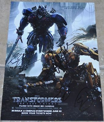 Transformers The Last Knight Multi Signed A4 Poster Cast #3