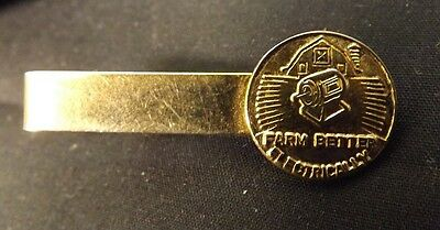 "Tie Clasp - ""Farm Better Electrically"" Hydro Electricity 1950's Promotional Item"
