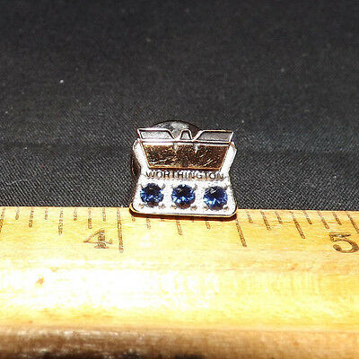 Worthington Industries10K Gold Lapel Pin with 3 Sapphires. 2.4 Grams. A Beauty