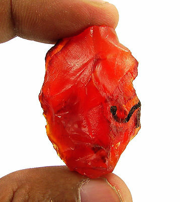 87.50 Ct Natural Orange Carnelian Loose Gemstone Rough Specimen Stone - 6599
