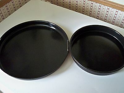 "2 NUWAVE OVEN Hearthware 10"" & 13""w/handles Baking Drip Pans REPLACEMENT PARTs"
