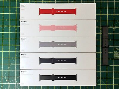 Genuine 6x Apple Watch Sport Bands 42mm - Midnight Blue, Red, Black, Fog, Pink.
