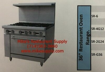 """NEW 36"""" Griddle Range with Oven Propane Stratus SR-G36 LP #7270 Commercial"""