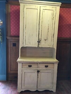 Primitive Distressed Stepback Cupboard