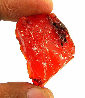 128.00 Ct Natural Orange Carnelian Loose Gemstone Rough Specimen Stone - 6548