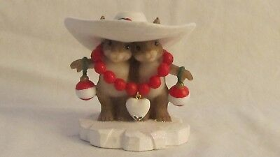 """Charming Tails """"I Love Your Style"""" #4023662, mice in hat Christmas holiday"""