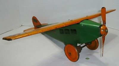 Vintage Large 1930's Steelcraft Army Scout Airplane Toy Plane