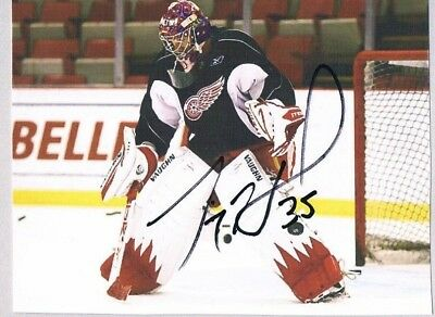 JIMMY HOWARD DETROIT RED WINGS AUTOGRAPHED 4 x 6 PHOTOGRAPH RECEIVED VIA MAIL EX