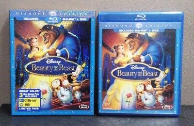 Disney:Beauty and the Beast (Blu-ray + DVD + Digital) Slipcover  LIKE NEW