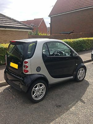 2003 Smart Passion Car 0.7L In Black And Silver Pan Roof Upgrades Leather Seats