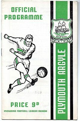Plymouth Argyle v Oldham Athletic programme Division Three 1968/69